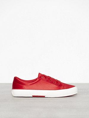 Lauren Ralph Lauren Jolie Sneakers Satin Röd