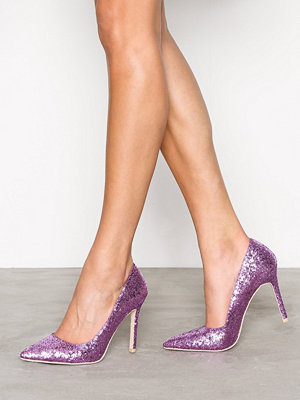 NLY Shoes Slim Pump Glitter Pink