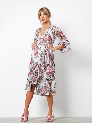 NLY Trend Frill Wrap Dress Blommig