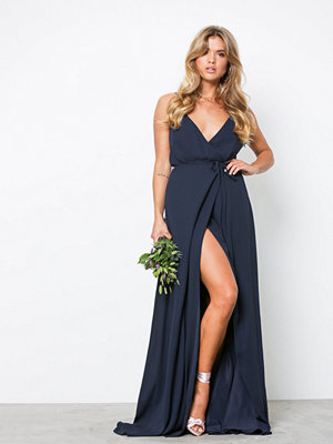 NLY Eve Thin Strap Flowy Gown Navy