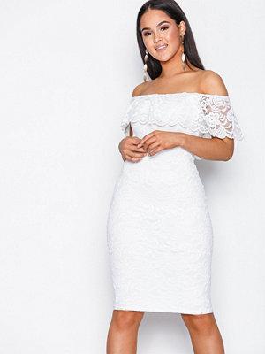 NLY One Lace Bardot Dress Vit