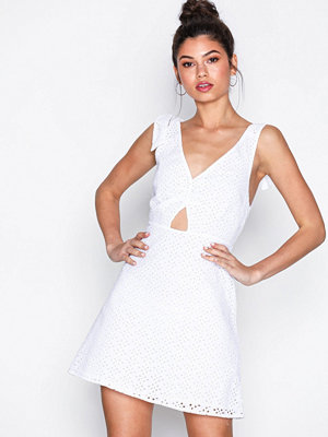 Topshop Broderie Mini Sundress White