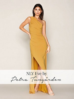 NLY Eve Draped One Shoulder Gown Gold
