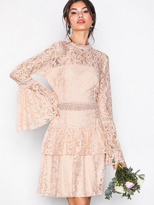 U Collection Dreamy Lace Dress Light Beige