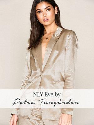 NLY Eve Shaped Satin Blazer Champagne