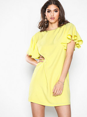 NLY Trend Frill Sleeve Dress Gul