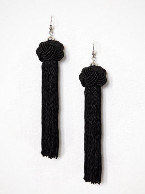 NLY Accessories örhängen Knot & Tassel Earrings Svart