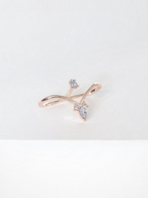 NLY Accessories Rhinestone Between Ring Rose Gold