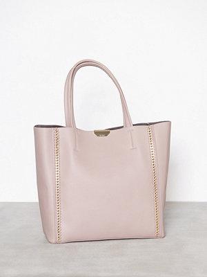 Topshop Chain Shopper Bag Beige