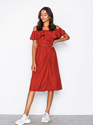 River Island Bardot Waisted Dress Red