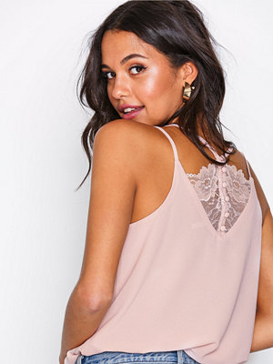 New Look Lace Back Cami Top Pale Pink