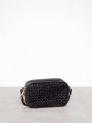 Topshop svart axelväska Lattice Boxy Cross Body Bag Black