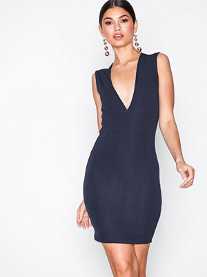 Ax Paris V-Neck Midi Dress Navy