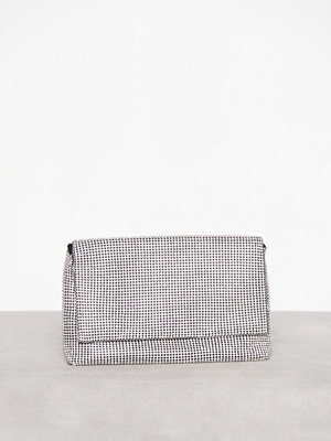 Topshop ljusgrå kuvertväska Diamante Clutch Bag Silver