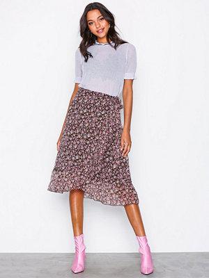 Neo Noir Mika Printed Skirt Rose Blush
