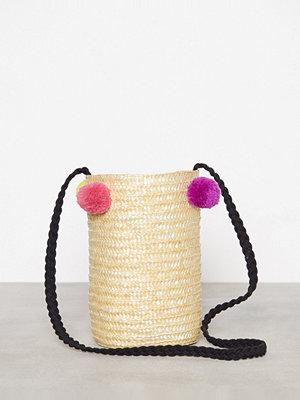 Only omönstrad axelväska onlNIFFA Straw Round Bag