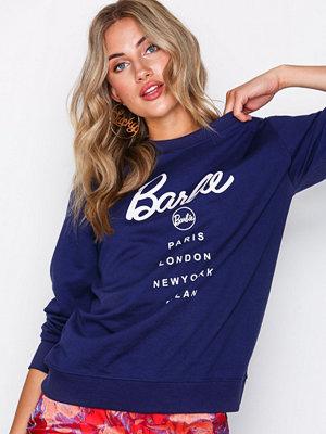 Missguided Barbie City Printed Sweatshirt Navy