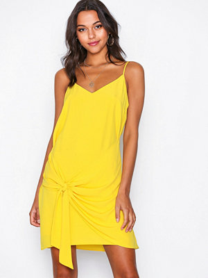 River Island Knot Slip Dress Yellow