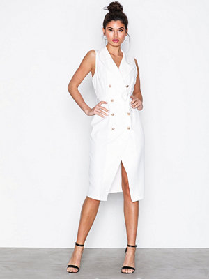 Missguided Midi Blazer Dress White