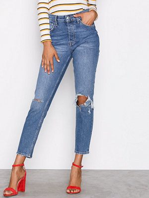 Gina Tricot Sienna High Waist Jeans Mid Blue