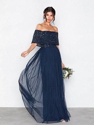 Maya Bardot Delicate Sequin Maxi Dress Navy