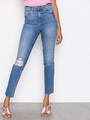 Jeans - Gina Tricot Leah Slim Mom Jeans Blue