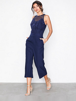 Little Mistress Lace Top Jumpsuit Navy