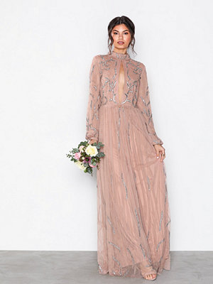 Maya Embellished Maxi Dress Mauve