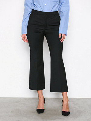 Filippa K svarta byxor Hudson Twill Cropped Trousers Black