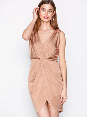 NLY One Twist Front Dress Beige