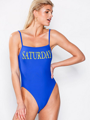 NLY Beach Mood Day Swimsuit Blå/Gul