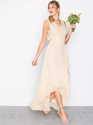 TFNC Rosie Maxi Dress Light Beige