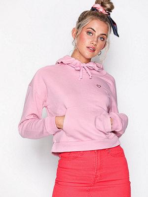 Topshop Heart Outline Hoodie Pink