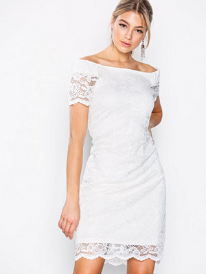 Vila Vizally Off Shoulder Dress Vit