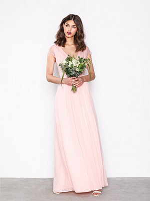 NLY Eve Cap Sleeve Lace Gown Ljus Rosa