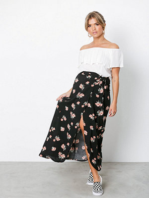 NLY Trend Wrap Me Skirt Blommig