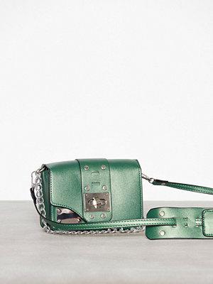 NLY Accessories mörkgrön axelväska Shiny Chain Bag Grön