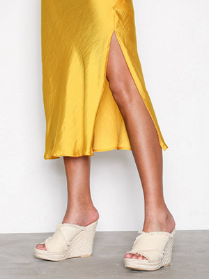NLY Shoes Canvas Rope Mule Offwhite