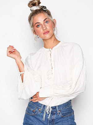Topshop Star Jacquard Gypsy Blouse Ivory