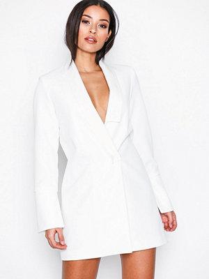 Missguided Collar Detail Blazer Dress White