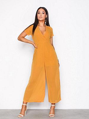 Glamorous Wide Leg Jumpsuit Mustard