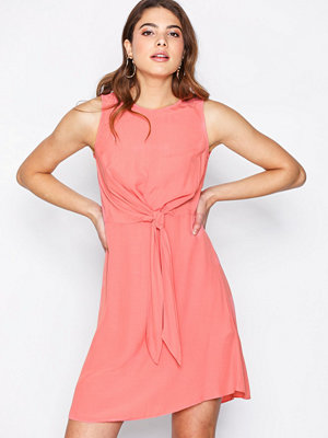 New Look Tie Front Mini Dress Coral