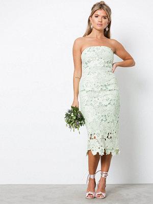 NLY Eve Bandeau Crochet Dress Mint Grön