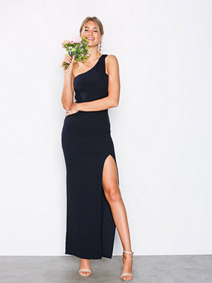Ax Paris One Shoulder Maxi Dress Navy
