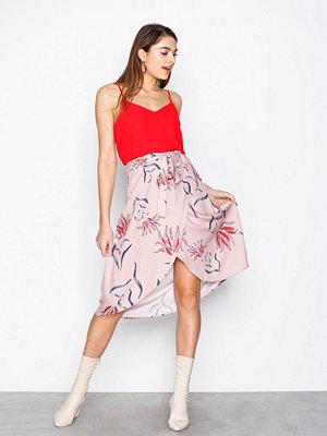 Vila Vinandi Wrap Midi Skirt Ljus Rosa
