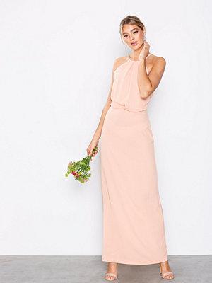 Ax Paris Halter Lace Back Dress Blush