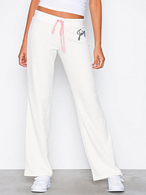 Juicy Couture vita byxor Juicy Shimmer Script Velour Del Rey Pant Natural