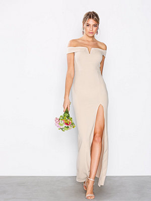 Ax Paris Bardot Maxi Dress Blush