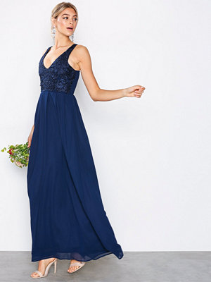 Ax Paris Strappy Lace Maxi Dress Navy