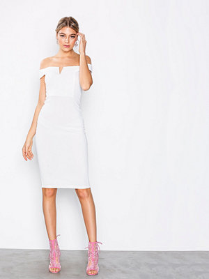 Ax Paris Bardot Midi Dress White